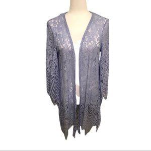 Miami Lace Kimono, Powder Blue, Size M